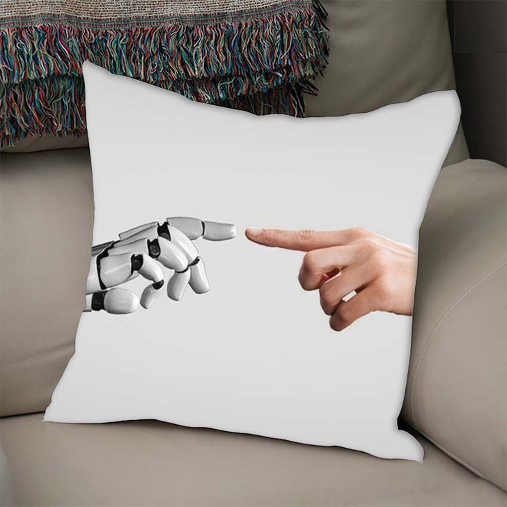 3D Rendering Artificial Intelligence Ai Research 14 - Creation of Adam Throw Pillow