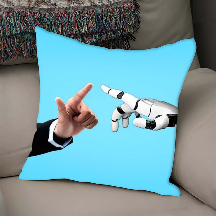 3D Rendering Artificial Intelligence Ai Research 23 - Creation of Adam Throw Pillow