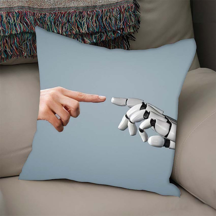 3D Rendering Artificial Intelligence Ai Research 28 - Creation of Adam Throw Pillow