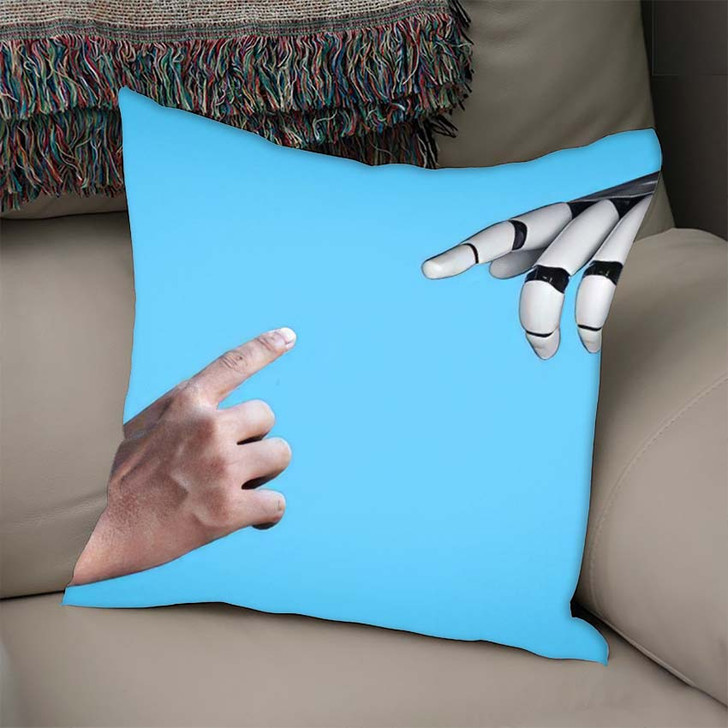 3D Rendering Artificial Intelligence Ai Research 32 - Creation of Adam Throw Pillow
