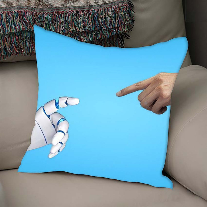 3D Rendering Artificial Intelligence Ai Research 34 - Creation of Adam Throw Pillow