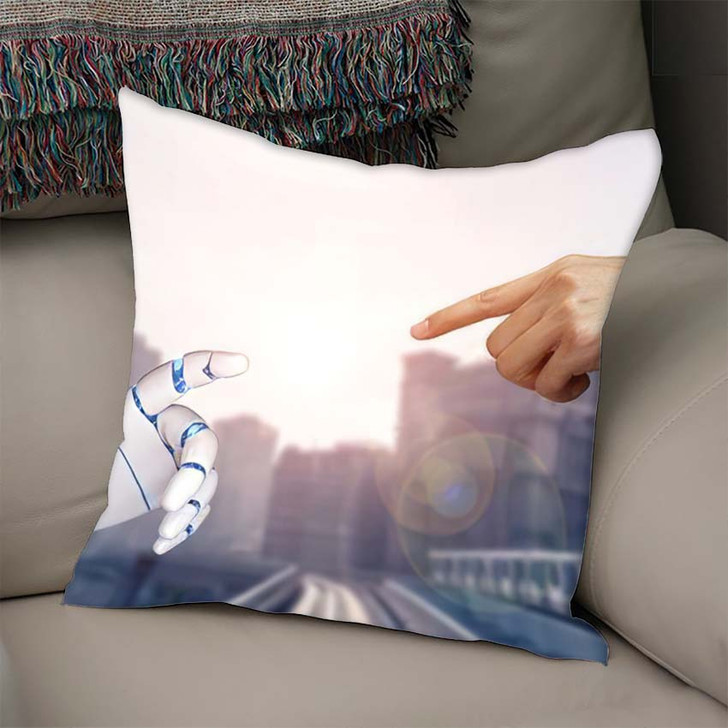 3D Rendering Artificial Intelligence Ai Research 35 - Creation of Adam Throw Pillow