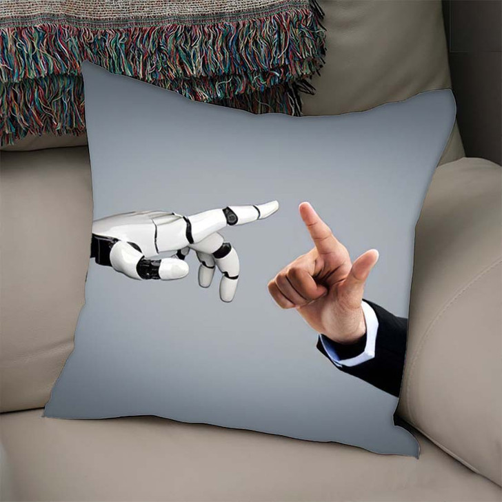 3D Rendering Artificial Intelligence Ai Research 36 - Creation of Adam Throw Pillow