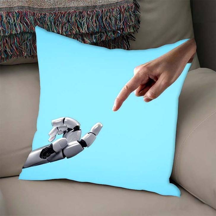 3D Rendering Artificial Intelligence Ai Research 40 - Creation of Adam Throw Pillow