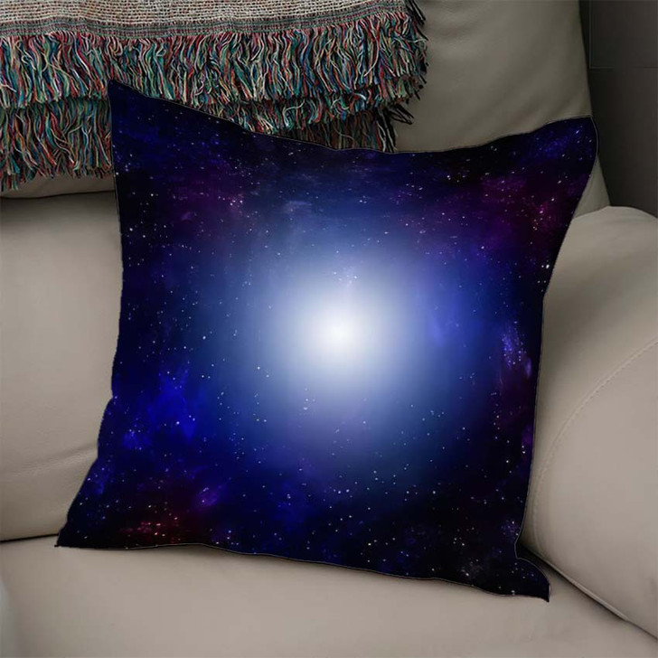 3D Illustration Planets Galaxy Science Fiction 3 - Galaxy Sky and Space Throw Pillow