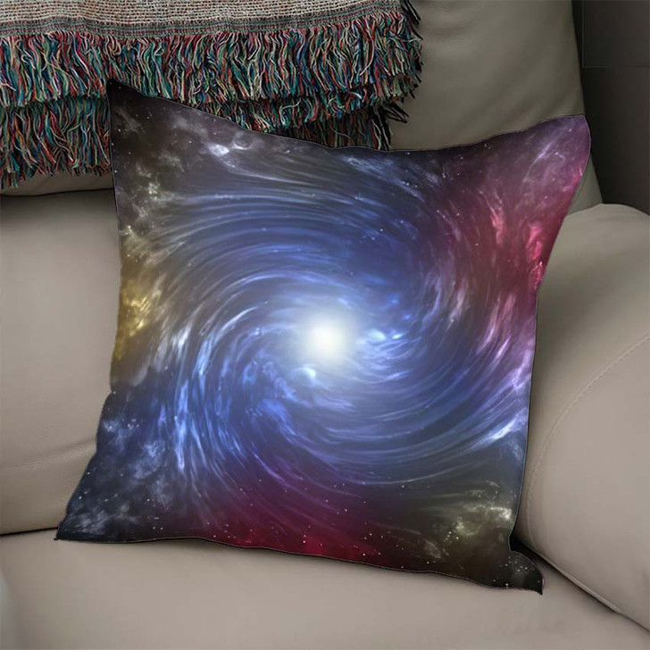 3D Illustration Planets Galaxy Science Fiction 8 - Galaxy Sky and Space Throw Pillow