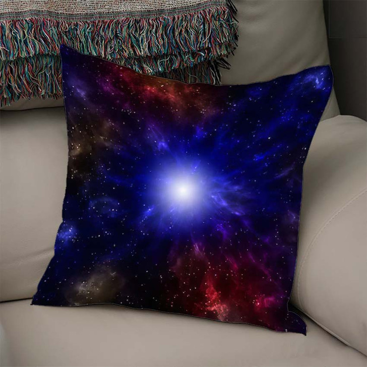 3D Illustration Planets Galaxy Science Fiction 11 - Galaxy Sky and Space Throw Pillow