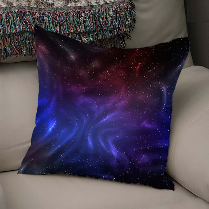 3D Illustration Planets Galaxy Science Fiction 12 - Galaxy Sky and Space Throw Pillow