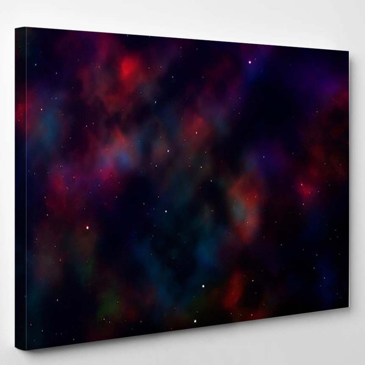 Space Background Fantastic Outer View Realistic 4 - Fantastic Canvas Art Print