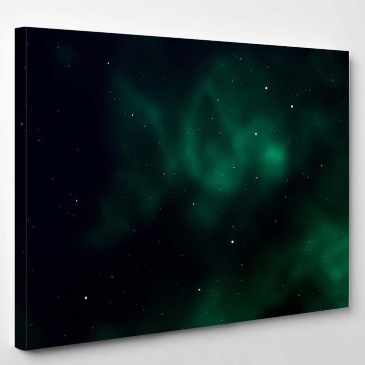 Space Background Fantastic Outer View Realistic 8 - Fantastic Canvas Art Print