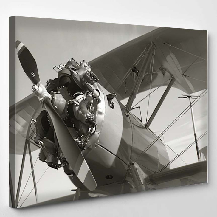 Classic Old Airplane - Airplane Airport Canvas Art Print