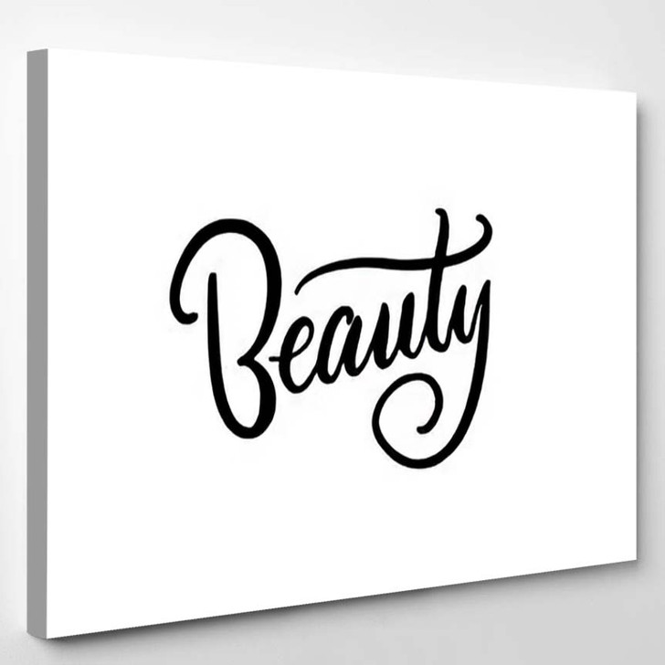 Beauty Typography Square Poster Lettering Calligraphy - Quotes Canvas Art Print