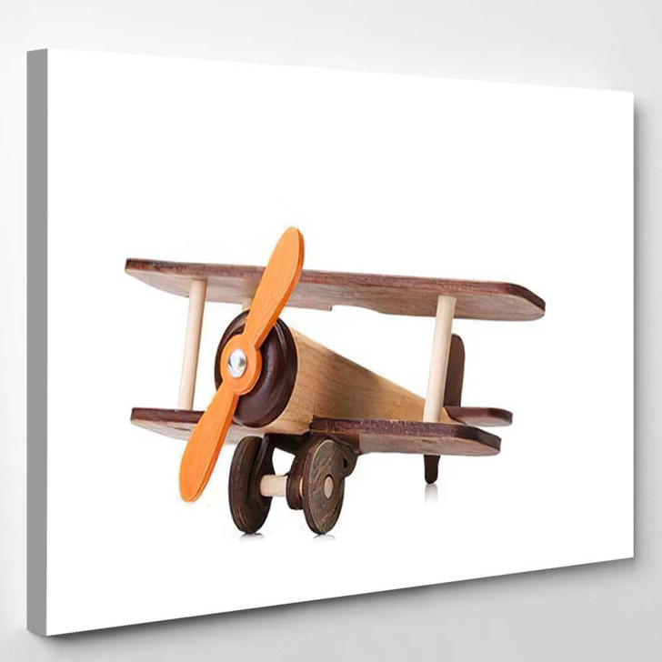Close Ecofriendly Product Childrens Games Isolated - Airplane Airport Canvas Art Print