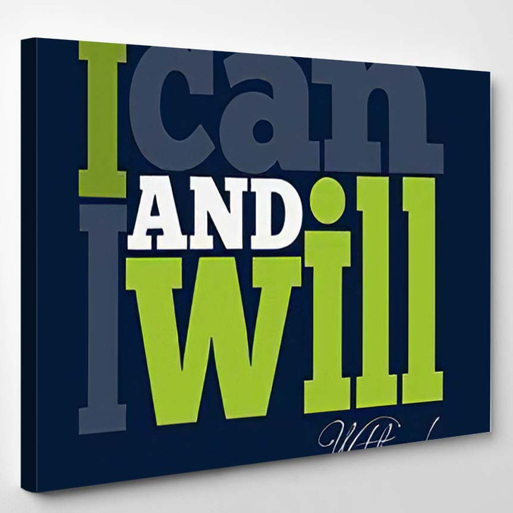 Can Will Quote Typographical Retro Background - Quotes Canvas Art Print