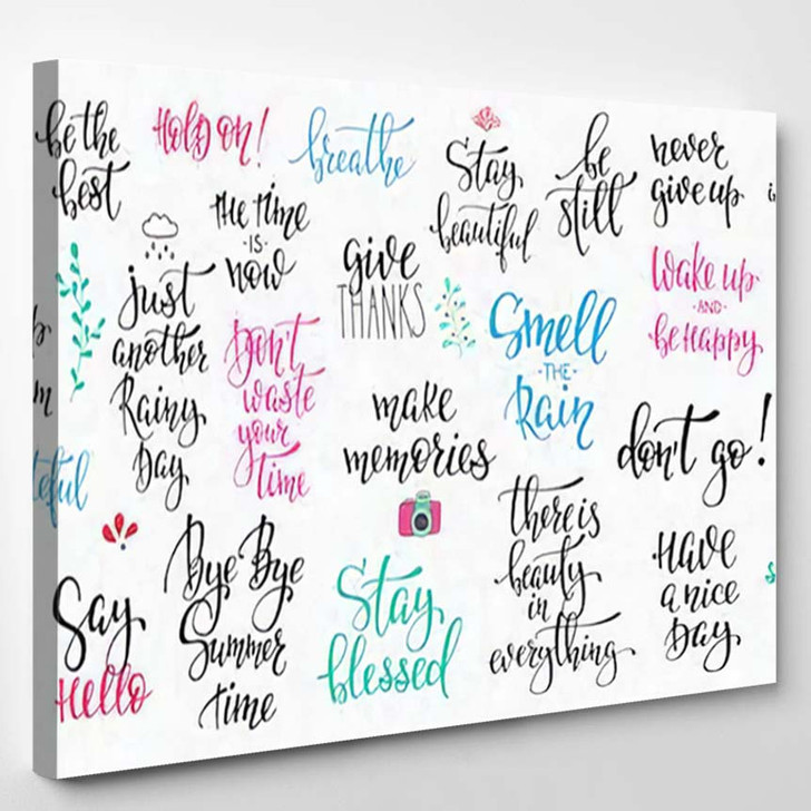 Lettering Photography Overlay Set Motivational Quote 1 - Quotes Canvas Art Print