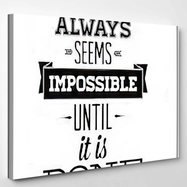 Poster Motivational Quote Inspirational Saying By - Quotes Canvas Art Print
