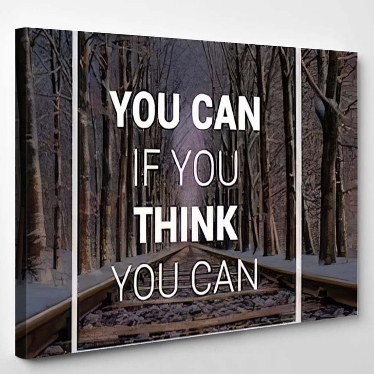 Quotes Motivational Inspirational Quote Sayings On - Quotes Canvas Art Print