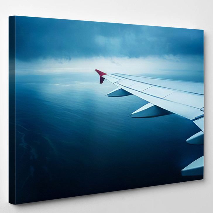 View Airplane Window On Cold North - Airplane Airport Canvas Art Print
