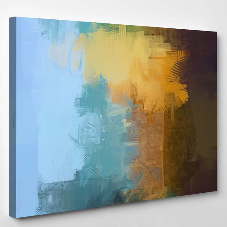 2D Illustration Contemporary Art Hand Made - Abstract Art Canvas Art Print