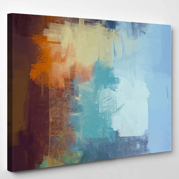 2D Illustration Contemporary Art Hand Made 1 - Abstract Art Canvas Art Print