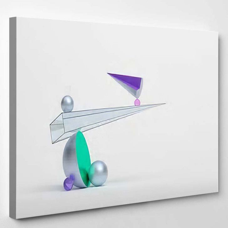 Abstract 3D Rendering Geometric Shapes Surreal - Abstract Art Canvas Art Print
