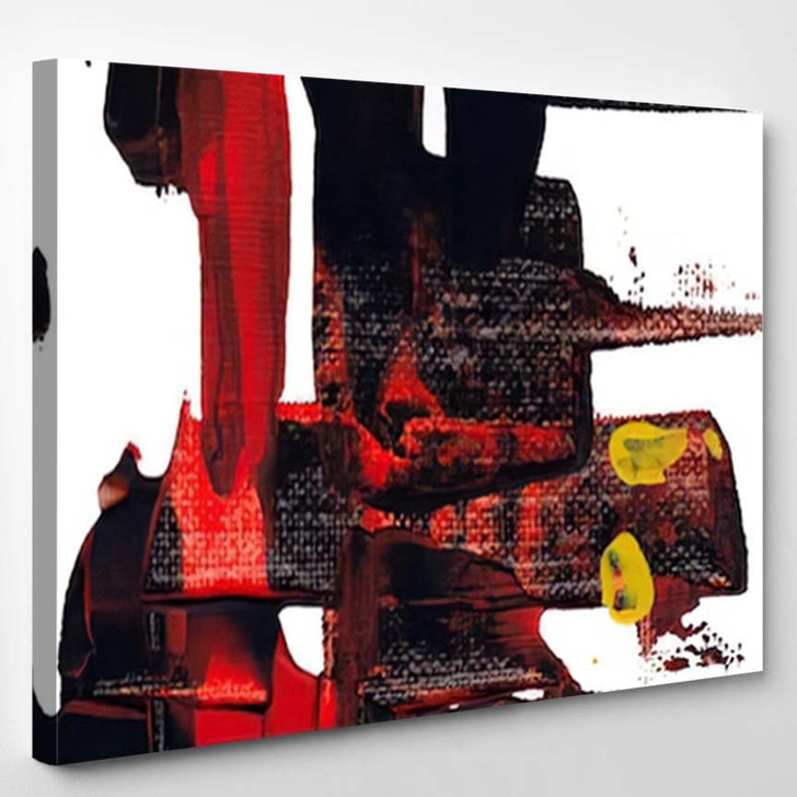 Abstract Acrylic Painting Palette Knife Texture - Abstract Art Canvas Art Print