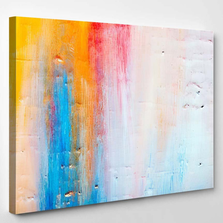 Abstract Art Background Handpainted Self Made 1 1 - Abstract Art Canvas Art Print