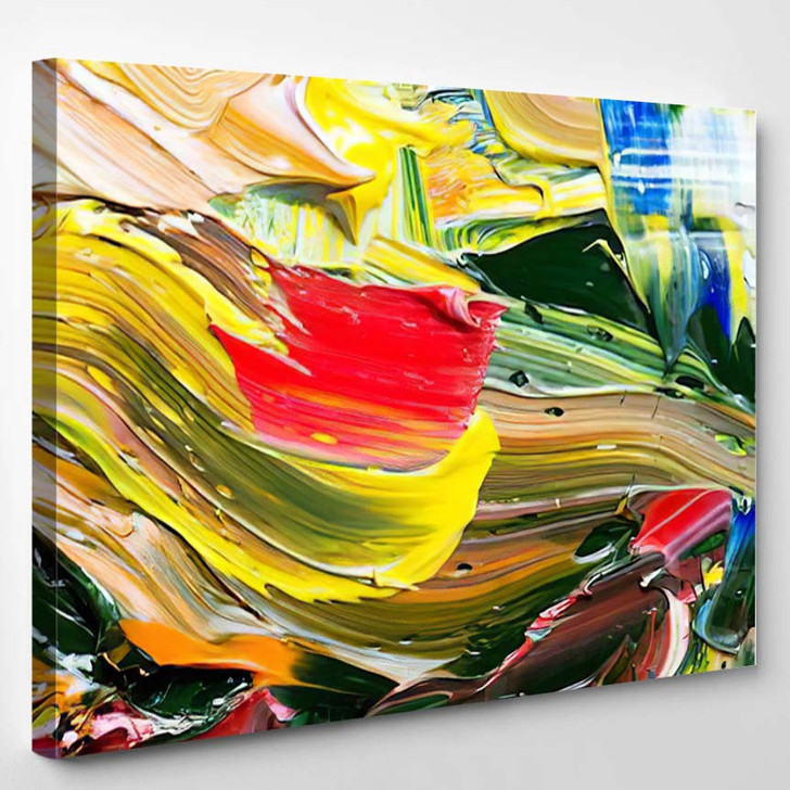 Abstract Art Background Handpainted Self Made 2 1 - Abstract Art Canvas Art Print