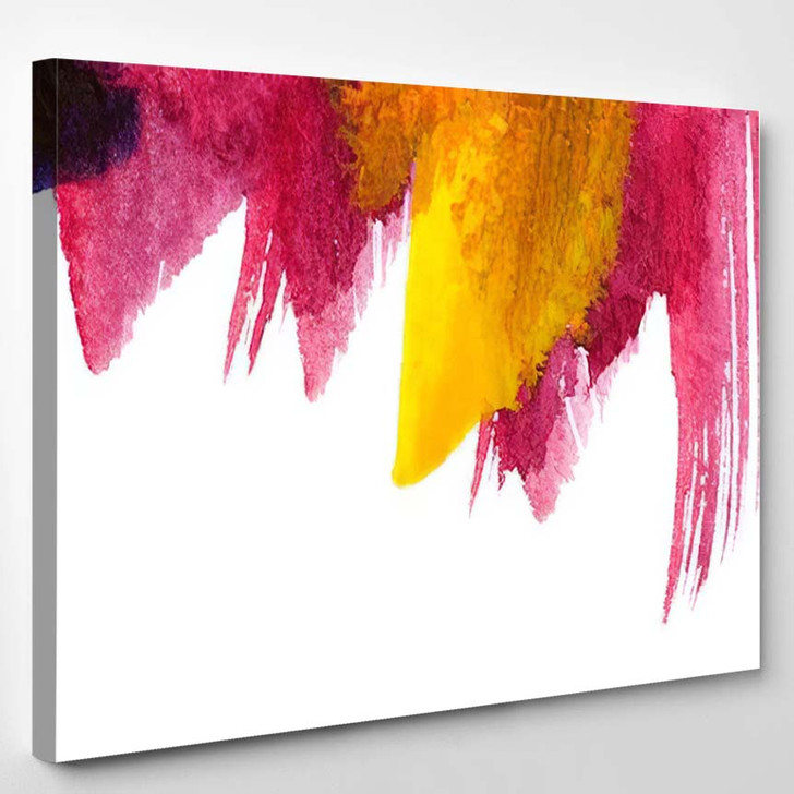Abstract Art Background Handpainted Self Made 5 - Abstract Art Canvas Art Print