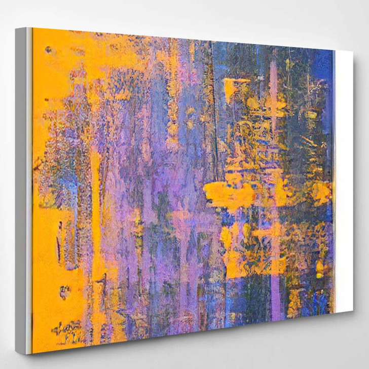 Abstract Art Background Oil Painting On 3 1 - Abstract Art Canvas Art Print