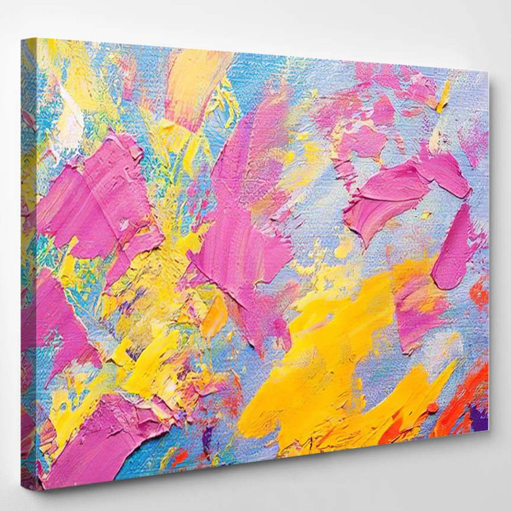 Abstract Art Background Oil Painting On 6 - Abstract Art Canvas Art Print