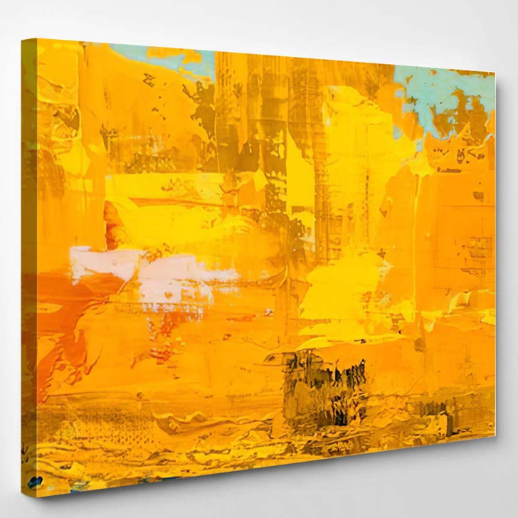 Abstract Art Background Oil Painting On 7 - Abstract Art Canvas Art Print