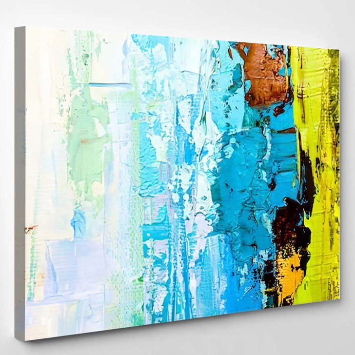 Abstract Art Background Oil Painting On 9 - Abstract Art Canvas Art Print