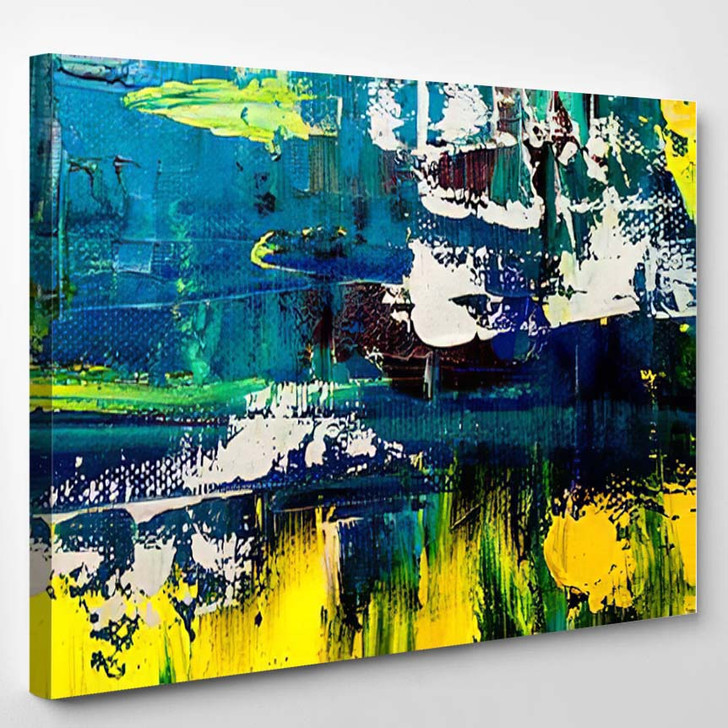 Abstract Art Background Oil Painting On 11 - Abstract Art Canvas Art Print