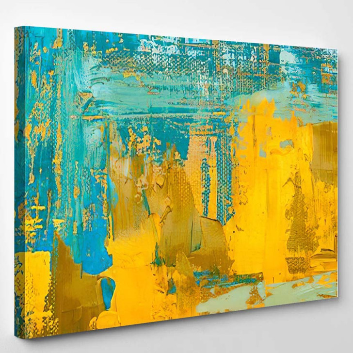 Abstract Art Background Oil Painting On 12 - Abstract Art Canvas Art Print