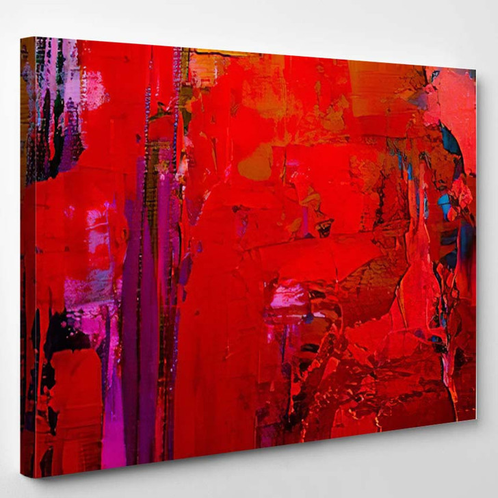 Abstract Art Background Oil Painting On 13 - Abstract Art Canvas Art Print