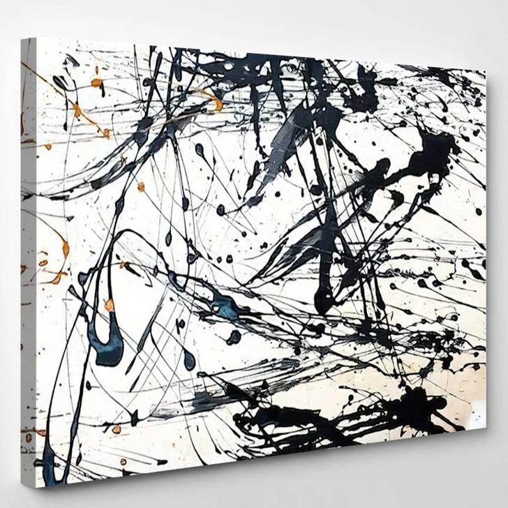Abstract Art Creative Background Hand Painted 1 - Abstract Art Canvas Art Print