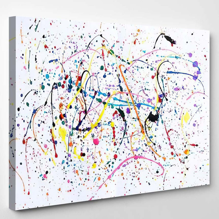 Abstract Art Creative Background Splashes Drips 1 - Abstract Art Canvas Art Print
