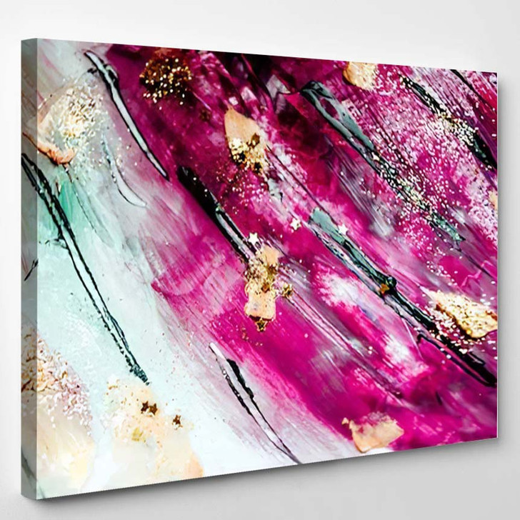 Abstract Art Gold Colors Sparkles Artistic 1 - Abstract Art Canvas Art Print