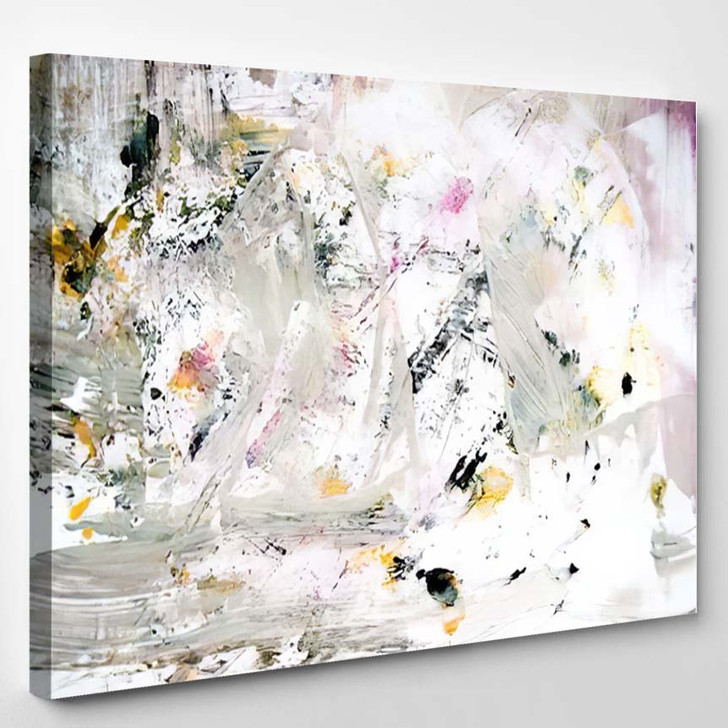 Abstract Art Gold Colors Sparkles Creative - Abstract Art Canvas Art Print