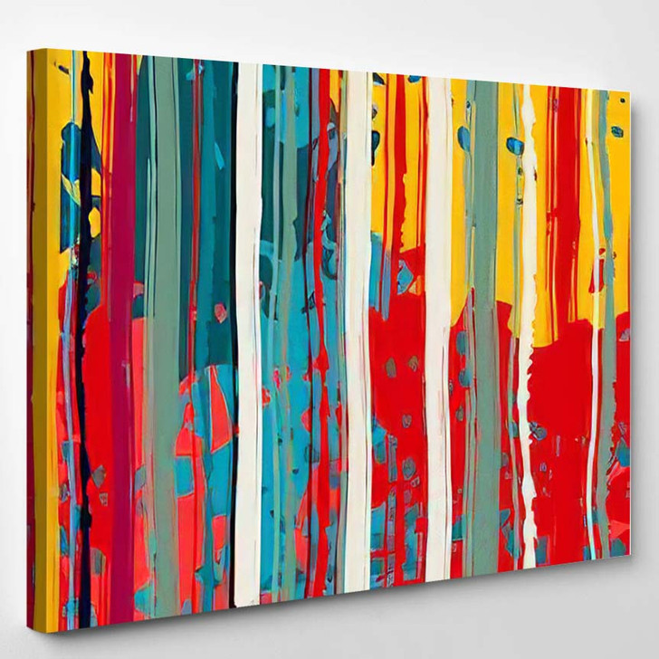 Abstract Art Grunge Colorful Seamless Pattern - Abstract Art Canvas Art Print
