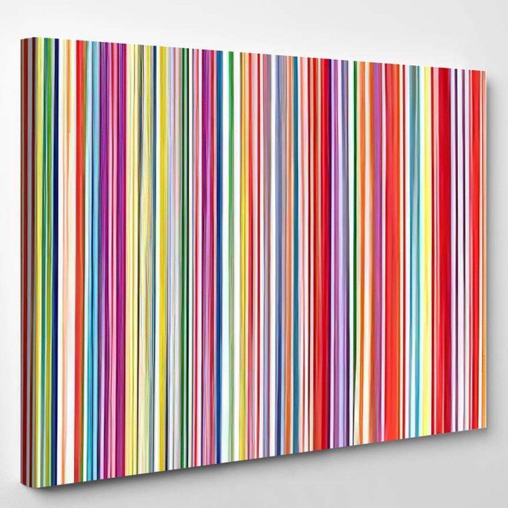 Abstract Art Rainbow Curved Lines Colorful 2 - Abstract Art Canvas Art Print