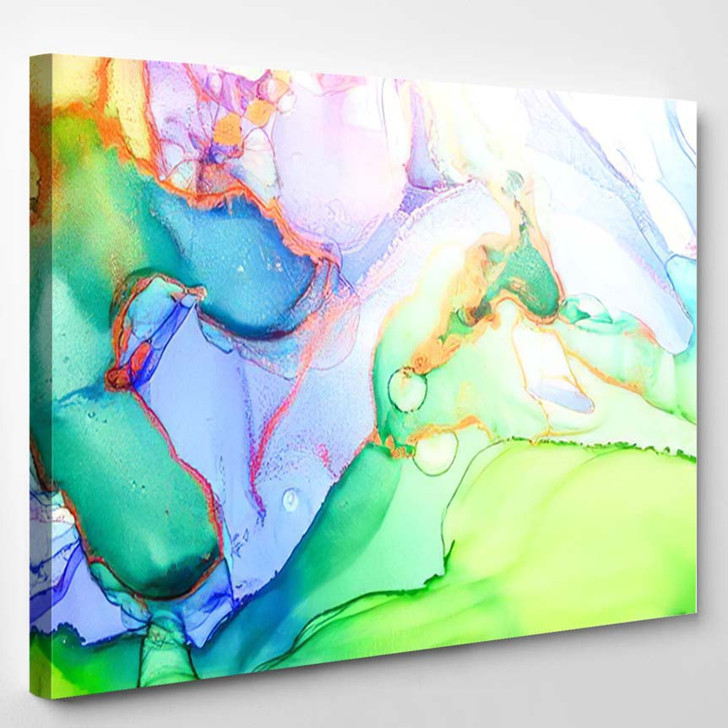 Abstract Artistic Texture Chic Painting Psychedelic - Abstract Art Canvas Art Print