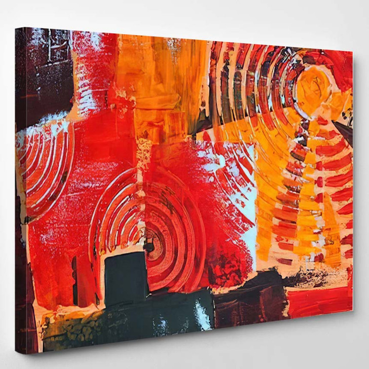 Abstract Colorful Oil Painting On Canvas 21 - Abstract Art Canvas Art Print