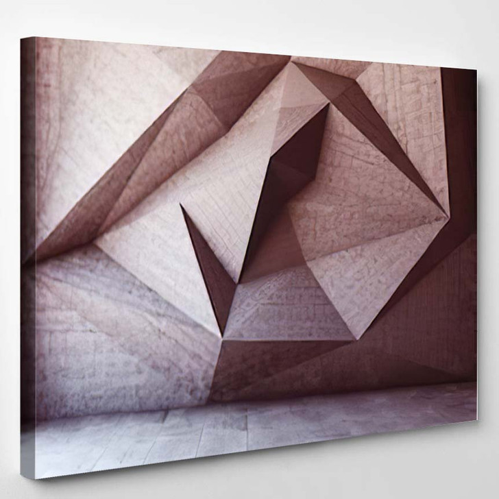 Abstract Geometric Background Concrete 1 - Abstract Art Canvas Art Print
