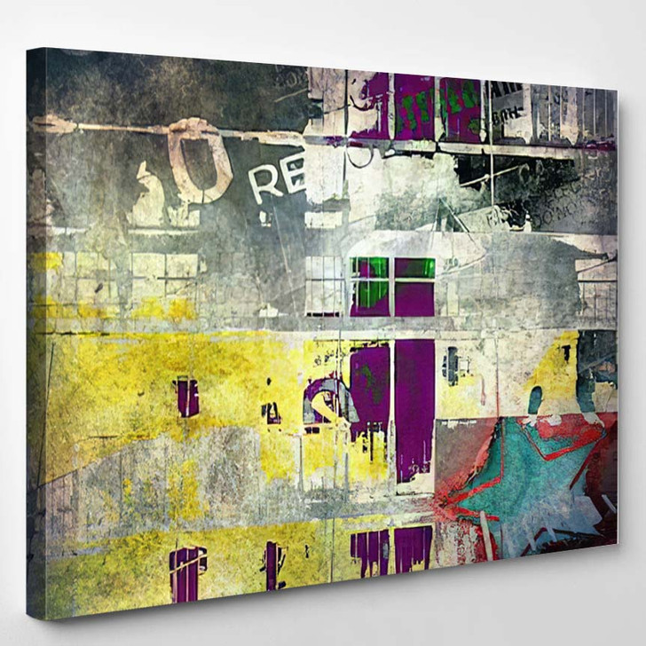 Abstract Grunge Background 1 3 - Abstract Art Canvas Art Print