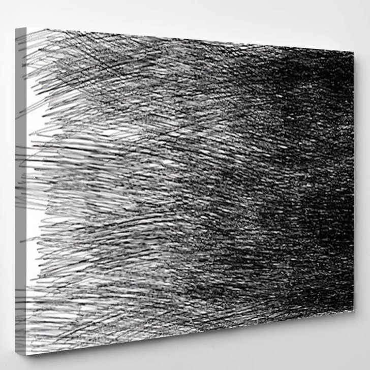 Abstract Minimalistic Gray Light Background Strokes - Abstract Art Canvas Art Print