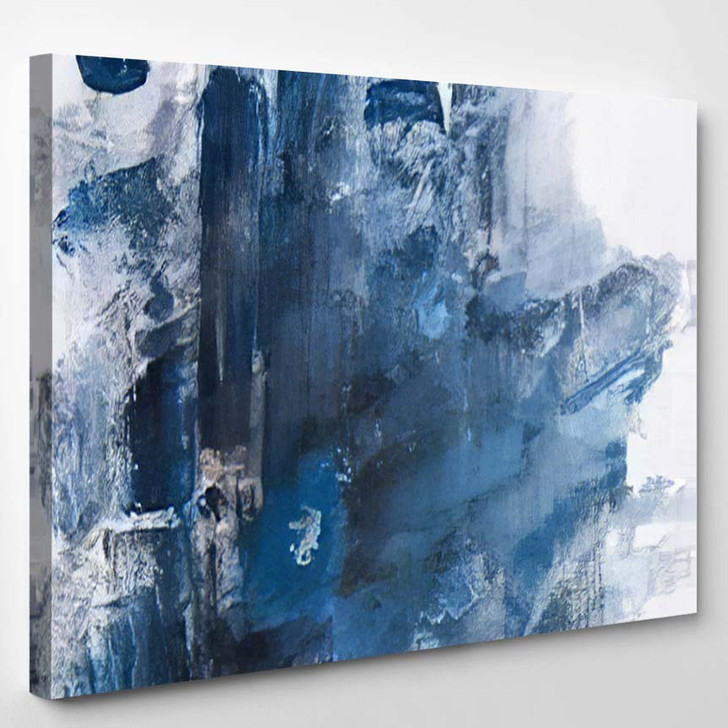 Abstract Modern City Contemporary Art - Abstract Art Canvas Art Print