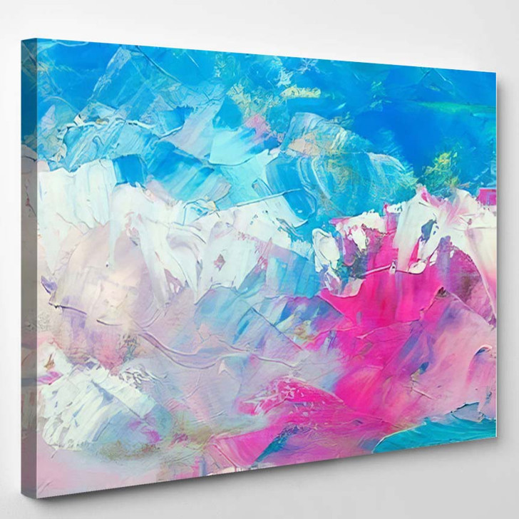 Abstract Oil Paint Texture On Canvas 2 1 - Abstract Art Canvas Art Print