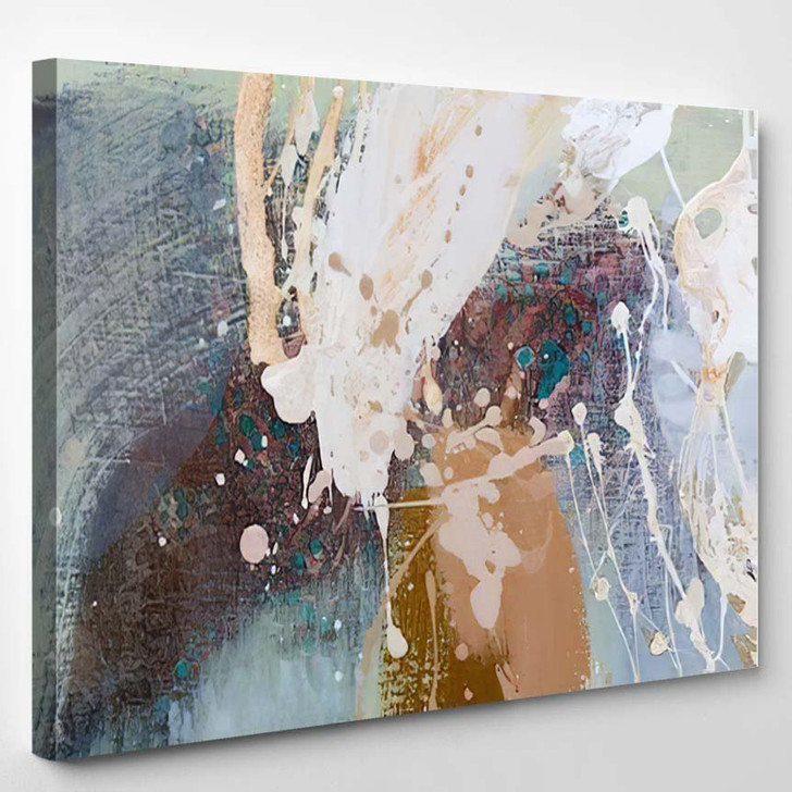 Abstract Oil Painting Background On Canvas 4 - Abstract Art Canvas Art Print